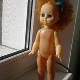Кукла лялька Ссср Ася, Донецк рыжая 34 см
