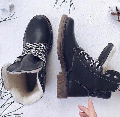 Мега крутые кожаные женские демисезонные или зимние ботинки Высокое качество