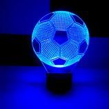 3d акриловый светильник ночник Футбольный мяч, подарок мужчине, для мальчика, сувенир, спортивный