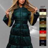 Шикарное зимнее пальто с натуральным мехом много цветов