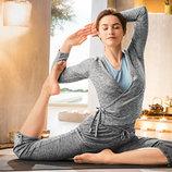 -18% от цены Сrane®Германия. нежнейший йога-жакет меланжевый р.евро М.l