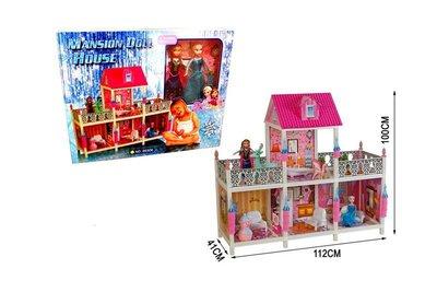 Кукольный домик Frozen 4 комнаты 2 балкона, 100 см 66906