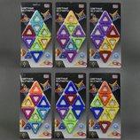 Конструктор магнитный 8 деталей, 4 модели 2432 play smart треугольник аналог magformers магформерс