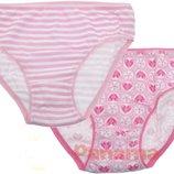 Набор трусиков 2 шт размеры от 2 до 6 лет розовые и мятные. Большой выбор белья