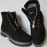Balmain Бальман лезвие зима Женские сапоги ботинки натуральная замша Pp