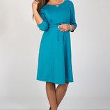 Платье для беременных и кормящих из трикотажа джерси, морская волна