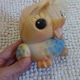 Ретро игрушка резиновая птичка Ссср