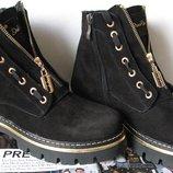 Balmain лезвие зима Женские сапоги ботинки натуральная замша Pp