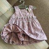 9-12 мес роскошное платье сарафан с Минни маус