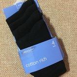 Шикарные черные носки 4 пары от Debenhams из Англии,23-26 размер