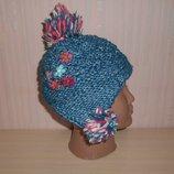 Новая теплая зимняя шапка Next 1-2 года, 80-92 см, оригинал, Италия