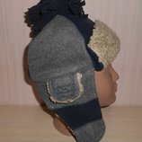Новая теплая зимняя шапка ушанка Gap 3-4 года, оригинал
