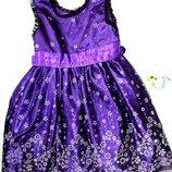 Нарядное платье 6-8 лет пог 34,дл. 75
