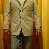 Очень красивый формальный пиджак голубого цвета Van Gils Голландия 48.