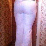 Классические льняные белые брюки от zara. 46. m.