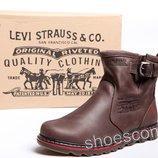 Мужские кожаные сапоги UGG Levi's Classic коричневые