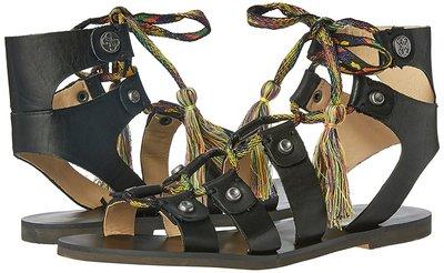 Черные босоножки-гладиаторы на шнуровке бренд Guess р. 37, 5