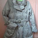 Р. L/40/12 Yuko. Модный пуховик с юбкой-колокольчик, стёганное пальто, куртка.