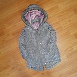 Классная удлиненная курточка по типу парки