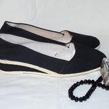 Шикарные тканевые туфли - балетки