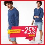Синий мужской свитшот De Facto