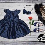 6 - 9 месяцев 73 - 80 Шикарное очень нарядное пышное романтичное платье сарафан Мазекеа Mothercare