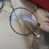 Модные кругляки в стиле Chanel- новинки -люкс-защита uv400-имиджевые линзы