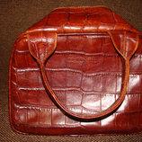 роскошная сумка Coccinelle оригинал винтаж кожа крокодил Италия идеал