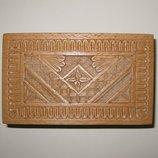 Деревянная шкатулка с этническим орнаментом 15х9х6, 5 см ручная работа