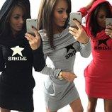 платье женское теплое толстовка худи женская Хит теплая и стильная свитшот свитер реглан кофта