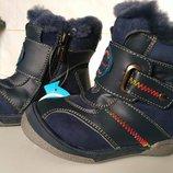 Зимние кожаные ботинки на нат.цигейке Калория