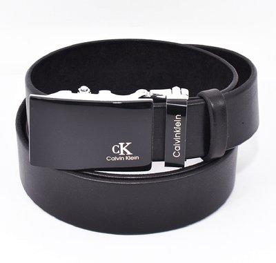 Ремень кожаный мужской автомат черный Calvin Klein 8006-308