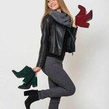 Акция Кожаные демисезонные женские ботильоны / ботинки класса Люкс весна-осень деми
