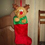 Рождественский сапожок-олень