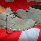 Брендовие стильние замшевие ботинки сапожки Roamer .42