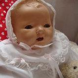 Кукла антикварная фирмы Peggy 45 см в крестильном платье