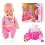 Пупс Baby Born 8001-3 9 функций, 9 аксессуаров