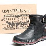 Мужские кожаные сапоги UGG Levi's Classic черные