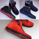 Р.40-45. Кроссовки мужские замша зима кросовки ботинки обувь найк Nike