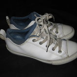 23 см стелька, кожаные кроссовки Converse, натуральная кожа