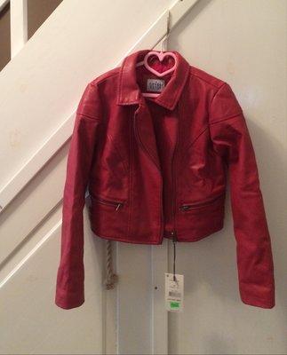 Фирменная кожаная курточка утепленная