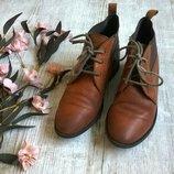 Стильные коричневые кожаные ботинки дезерты от TOPSHOP 37 р