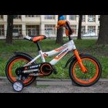 Детский Велосипед Азимут Файбер 16д оранж