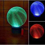 Ночник 3d светильник Баскетбольный мяч, игрушка, спорт, подарок мальчику мужчине, декор, интерьер