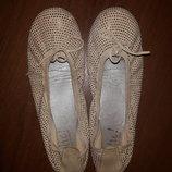 Очень красивые, нарядные туфли балетки 36 размер замшевые