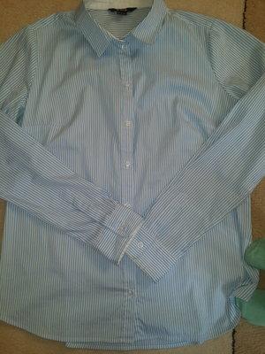 07c7ad271f9 Офисная классическая рубашка белая в нежно голубую полоску  180 грн ...