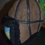 Зимняя шапка - ушанка из натуральной овчины Турция для мальчика 2-3 лет