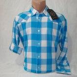 Распродажа. Мужская рубашка в клетку с длинным рукавом Junker. Разные цвета.
