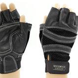 Перчатки спортивные многоцелевые перчатки атлетические BC 120 кожа полиэстер, размер M/L