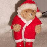 шикарный шарнирный Мишка Медведь Paddington в костюме Санта Клауса Англия оригинал 12 см